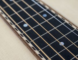 weissenborn model III detail fretboard ebony birds eye maple